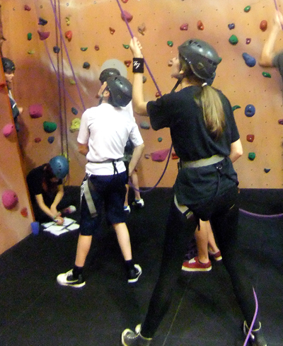 Indoor climbing is particularly suited as a 'taster' session for young people.