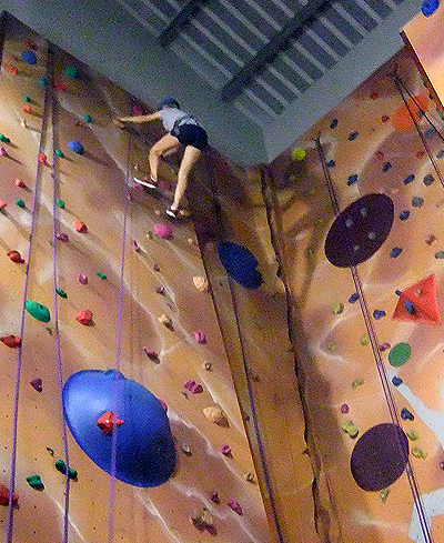 Indoor climbing is a great way to learn to climb or to build confidence.